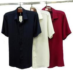 Silk shirt short sleeved, 100% silk