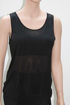 Silk tanktop black 100% silk