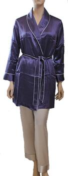 Silk Robe Purple, 100% silk