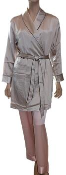 Silk Robe Beige, 100% silk