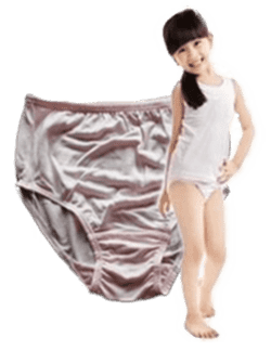 Silk Briefs girls, 100% silk