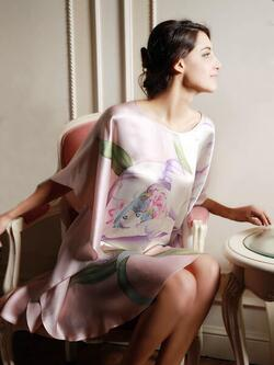 Silk Nightgown Batwing, 100% silk