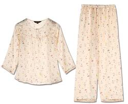Silk pajamas with air balloon print, 100% silk