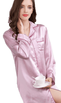 Silk Nightshirt dark pink, 16momme 100% silk