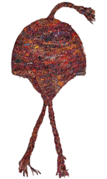 Silk Sari Hat Chrochet, 100% silk, fairtrade, Recycled