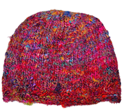 Silk Sari Cap, 100% silk, fairtrade