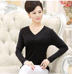 Silk Blouse V-Neck 100% silk, 160gsm
