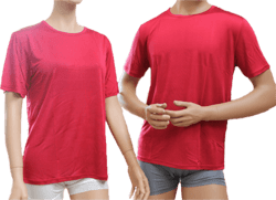 Silk tshirt 100% silk, red