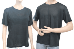 Silk tshirt 100% silk, black
