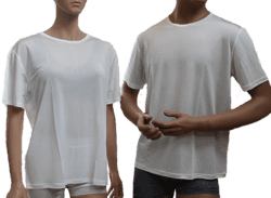 Silk tshirt women, 100% silk white