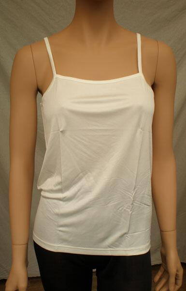 Silk top camisole White