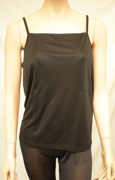 Silk top camisole black