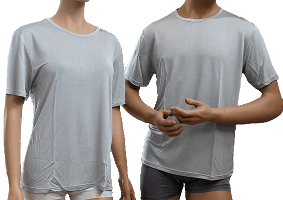 silk tshirt 100% silk, grey