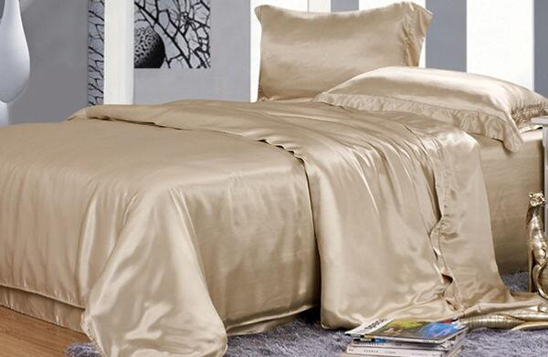 Silk bedding Beige01 100% silk 19momme