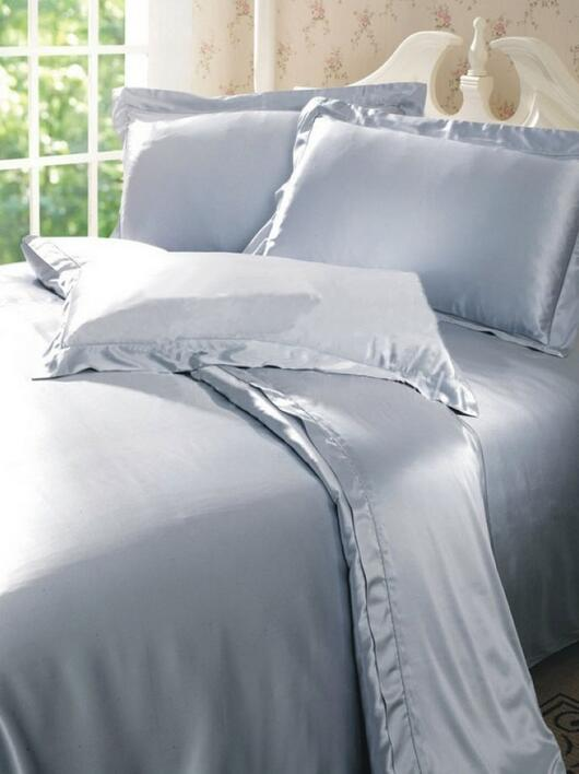 Silk bedding Grey 100% silk 19momme