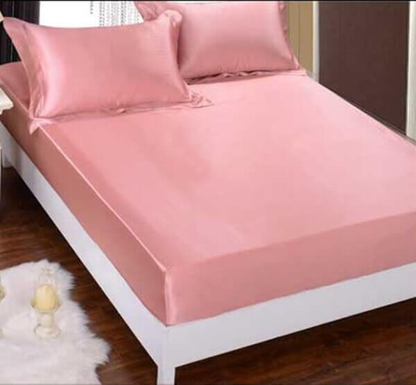 Silk bedding Dark pink 100% silk 19momme
