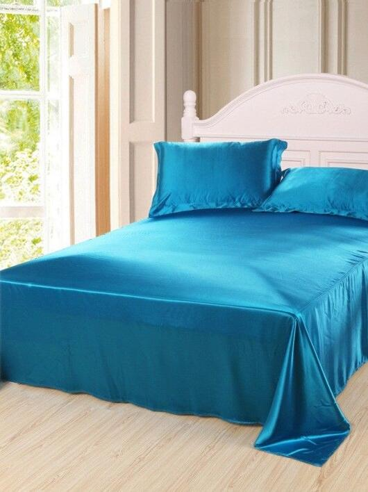 Silk bedding Peacock blue 100% silk 19momme