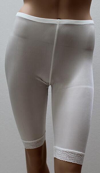 Silk Briefs long legs - white
