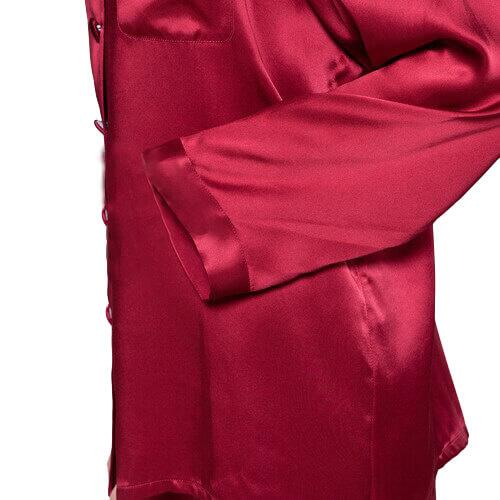 Silk pajamas Winered, 100% silk
