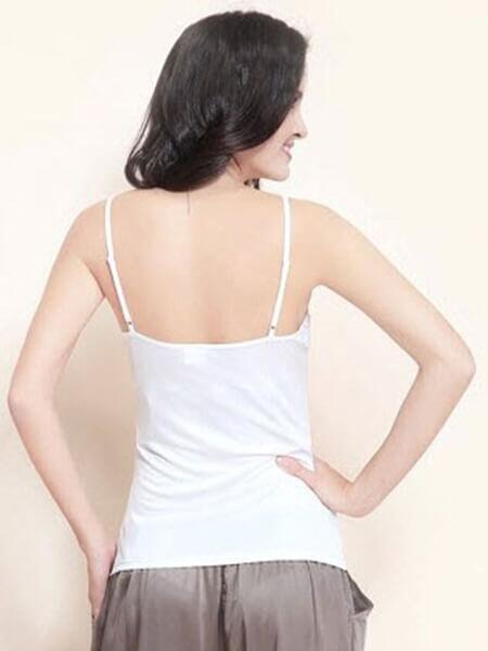 Silk camisole white, 100% silk