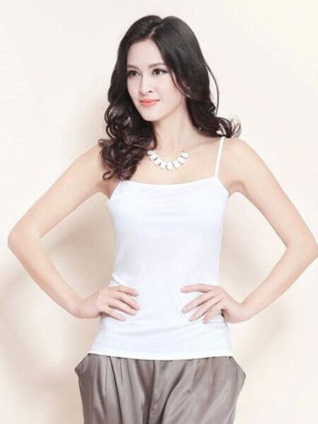 Silk camisole white