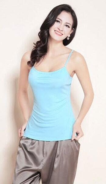 Silk camisole mint, 100% silk