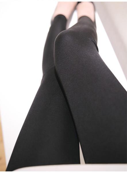 Silk leggings black, 100% silk