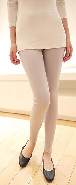 Silk leggings grey, 100% silk
