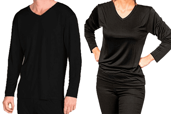 Silk tshirt long sleeved, unisex