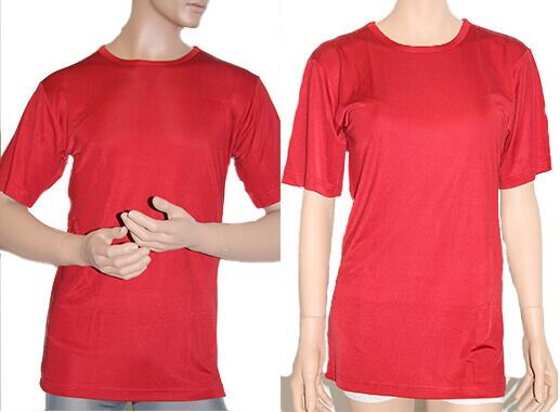 Silk tshirt 160gsm, unisex red