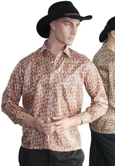 Silk shirt in 100% silk