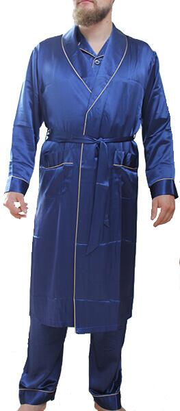 Silk Robe Blue, 100% silk