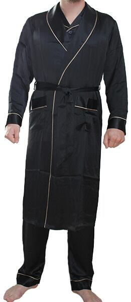 Silk Robe Black, 100% silk