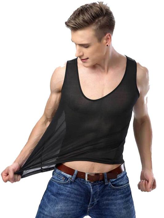 Silk tanktop black, 100% silk
