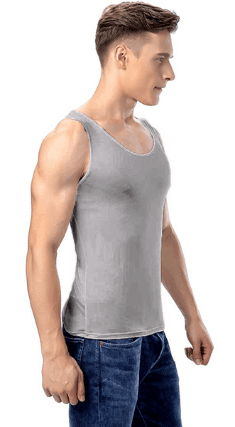Silk tanktop grey, 100% silk