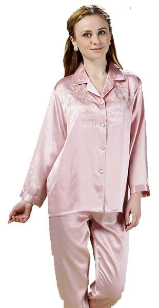 Silk pajama light pink 16mm 100% silk