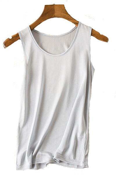 Silk Tanktop 100% silk, Grey