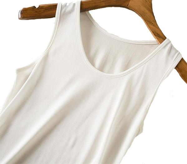 Silk Tanktop 100% silk, white