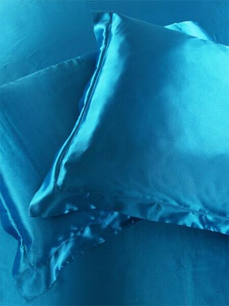 Silk pillowcase 100% silk, 19momme Blue