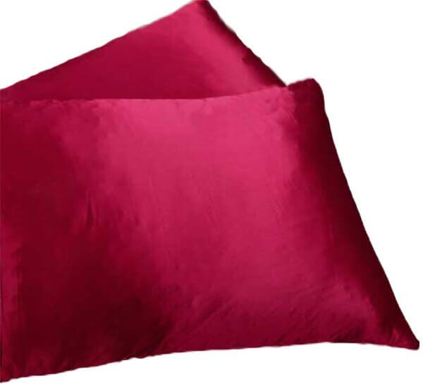 Silk pillowcase 100% silk, 19momme dark red