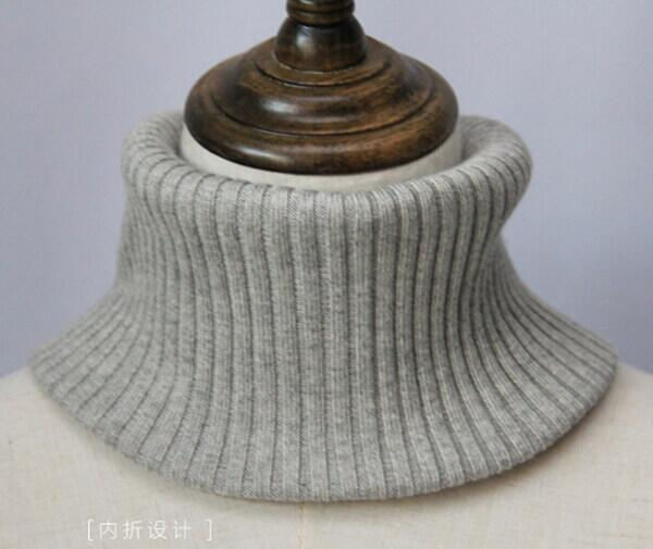Silk-cashmere neck heater, neck warmer
