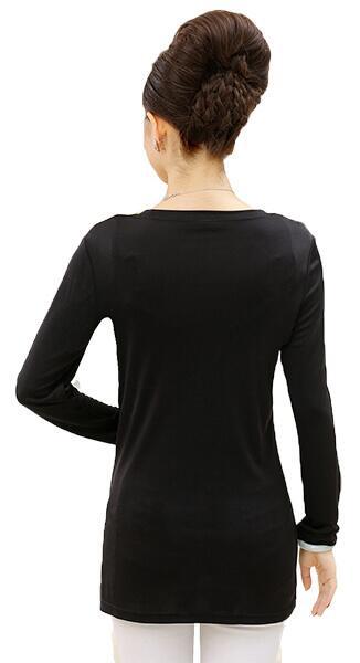 Silk tshirt long sleeved, 100% silk