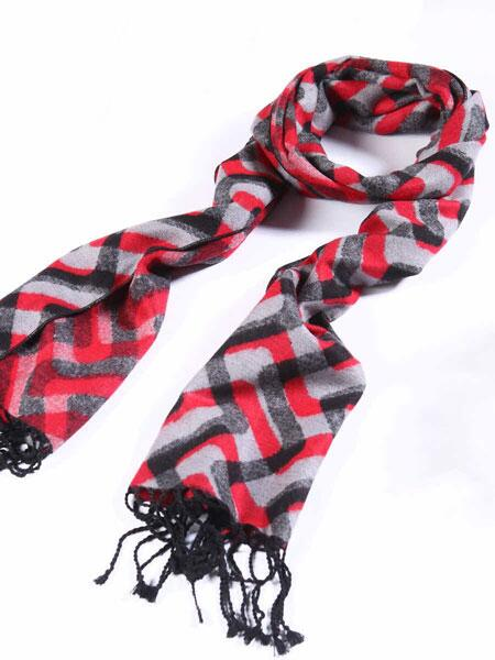 100% silk scarf knitted
