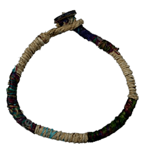 Seide - Hanf Armband Made in Nepal