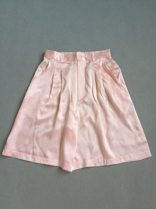 Silk satin shorts 100% silk
