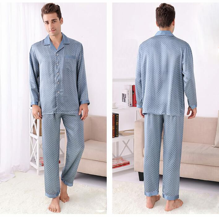 Silk Pajama Blue, high grade 19momme Silk, 100% Silk