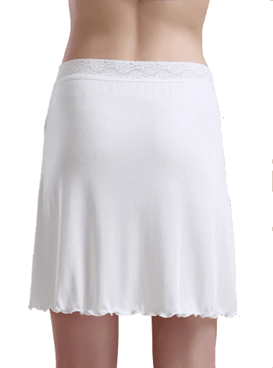 Silk Skirt 100% Silk, White