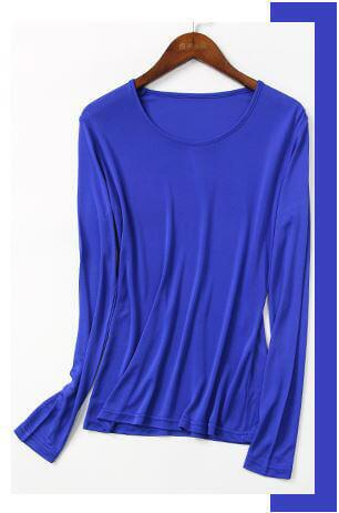 SilkBlouse 100% Silk Blue