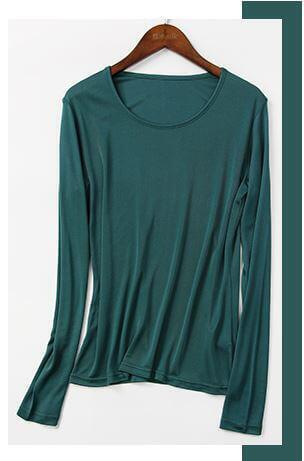 SilkBlouse 100% Silk Green