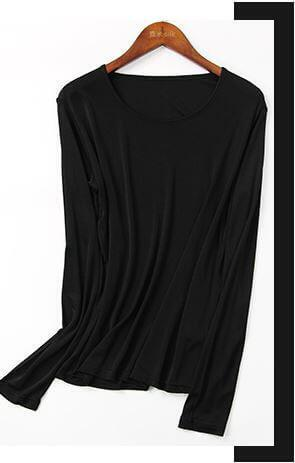 SilkBlouse 100% Silk Black
